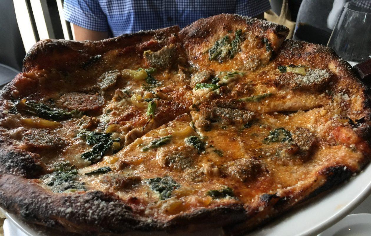 Meatball pizza at JT's Urban Italian. (Andrew Galarneau/Buffalo News)