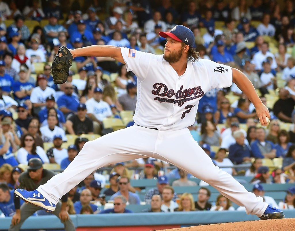 The Dodgers are 12-0 in games started by  Clayton Kershaw (Getty Images)