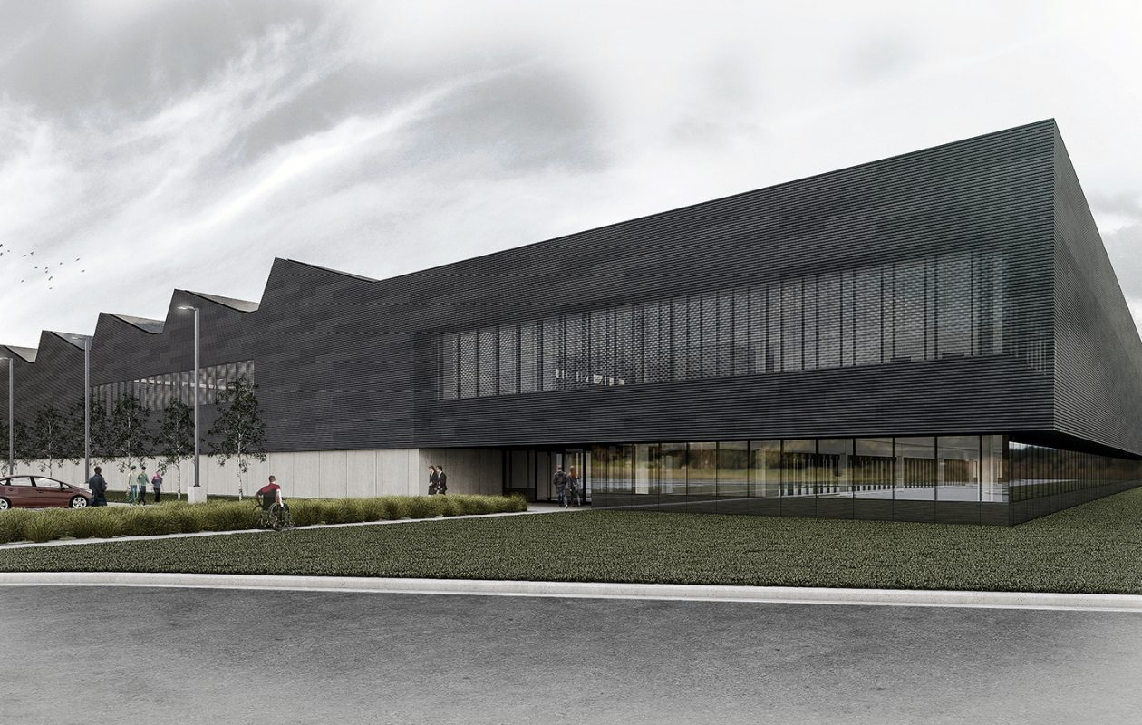 The Erie County Industrial Development Agency plans to build a zero energy light manufacturing and commercial building in Lackawanna. (Erie County IDA rendering)