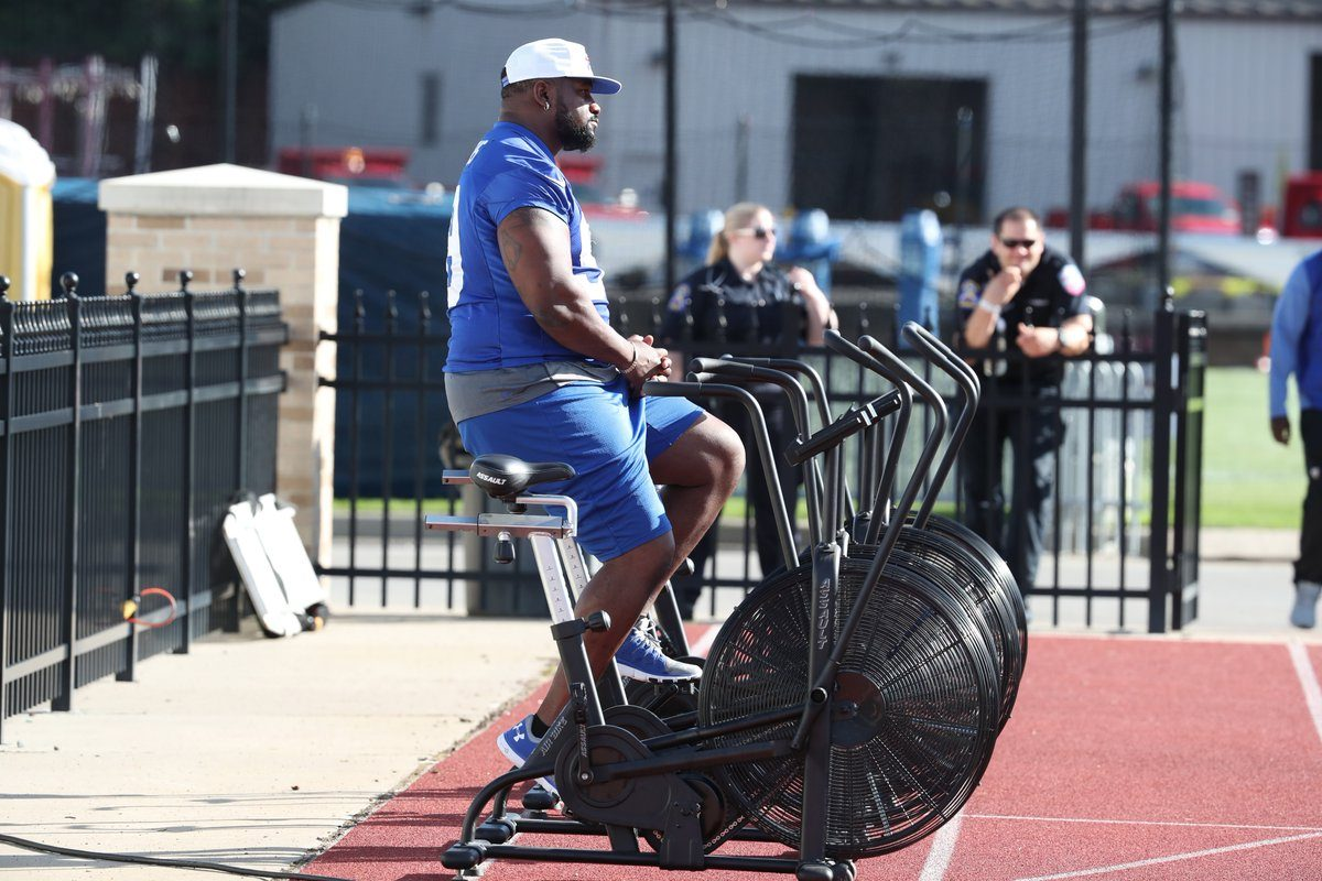 Marcell Dareus missed Wednesday's practice with an ankle injury. (James P. McCoy/Buffalo News)
