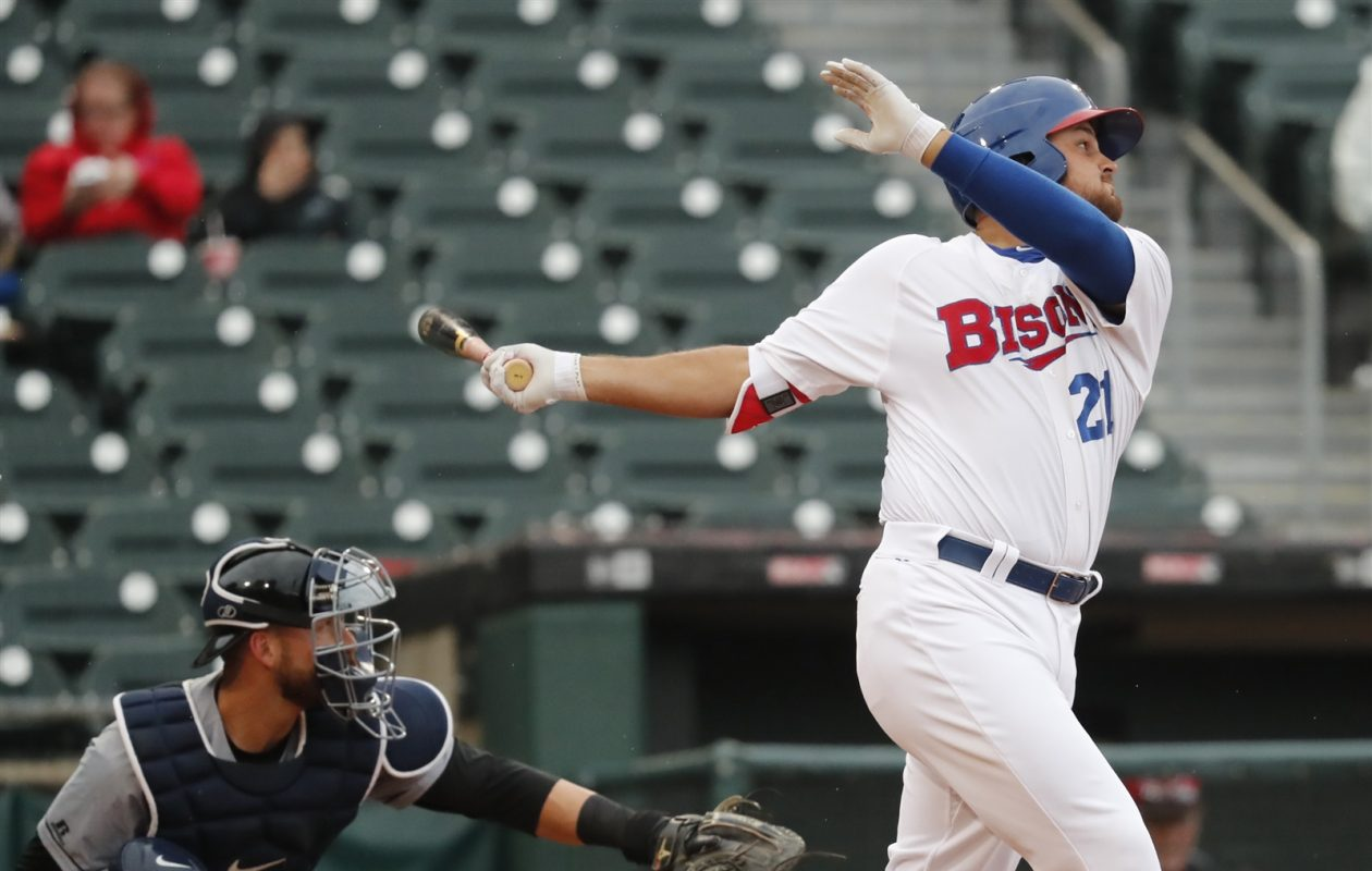 Rowdy Tellez is ready to move on from 2017. (Harry Scull Jr./Buffalo News file photo)