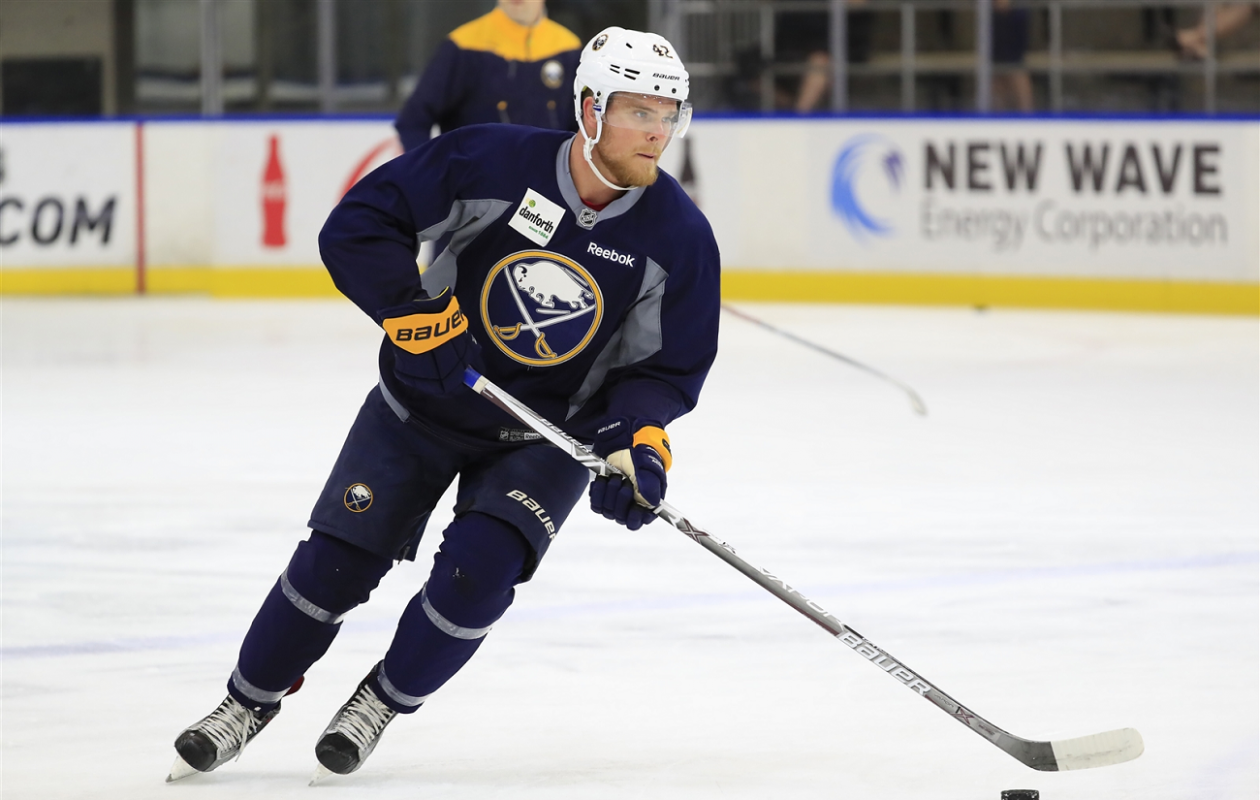 Sean Malone did not participate in the Prospects Challenge or training camp (Harry Scull Jr./Buffalo News).