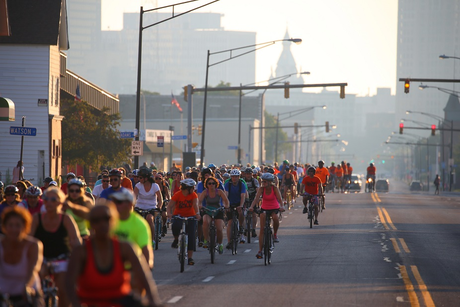 Tonight's Slow Roll starts and ends in the Fruit Belt. (John Hickey/Buffalo News file photo)