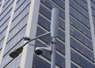 A small cell mounted on a utility pole. (Photo courtesy of Verizon)