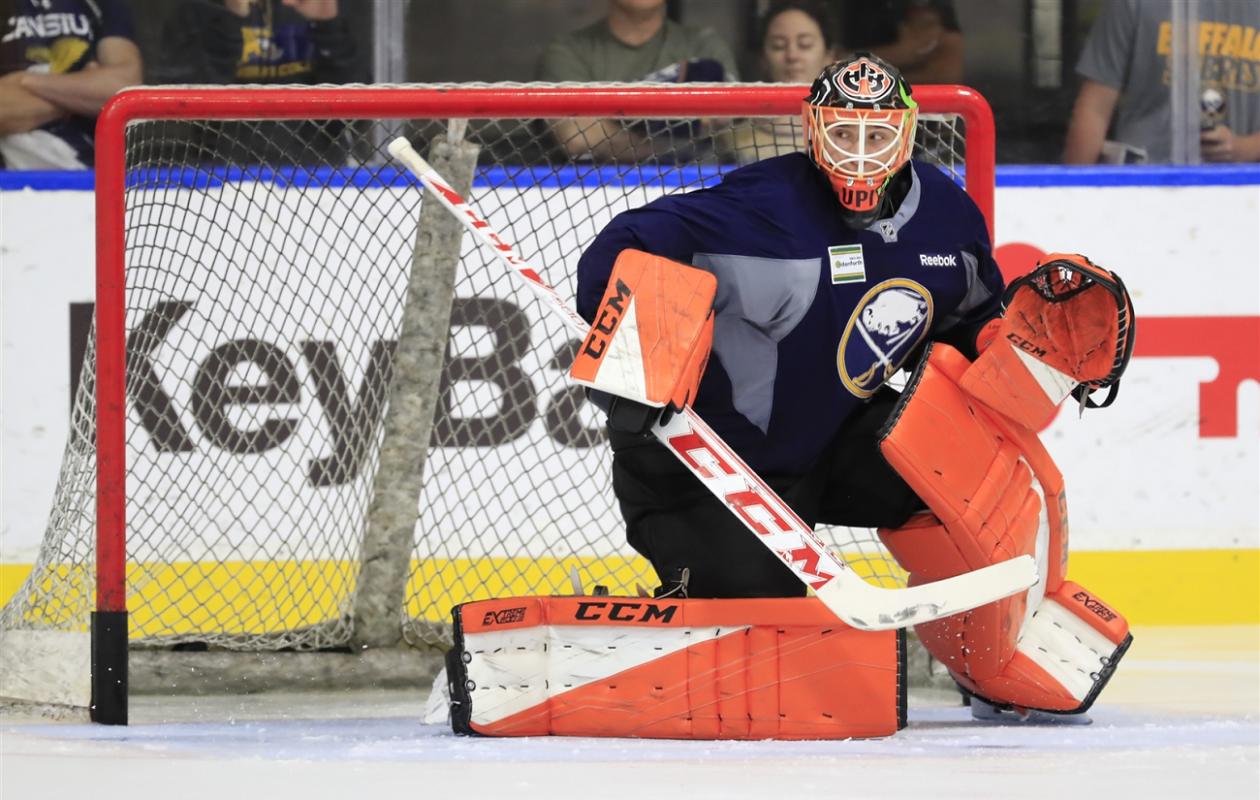 It's been a whirlwind summer for Sabres draft choice Ukko-Pekka Luukkonen. (Harry Scull, Jr./Buffalo News File Photo)