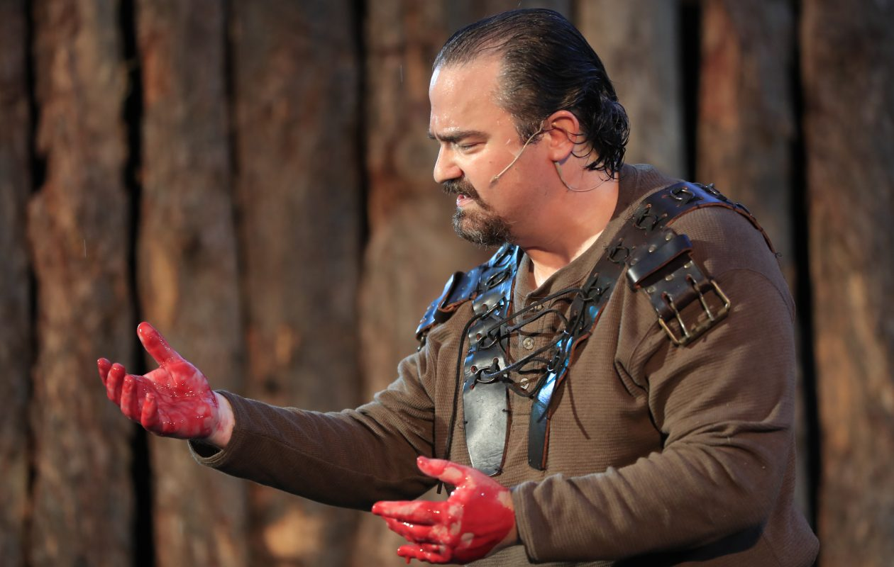 "Matt Witten stars in Shakespeare in Delaware Park's production of  Macbeth."" (Harry Scull Jr./Buffalo News)"