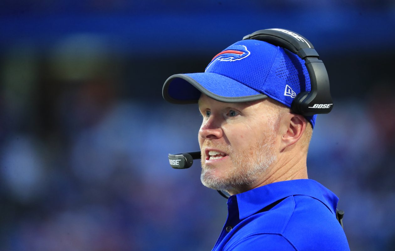 Sean McDermott worked his way into the NFL without benefit of family or league connections. (Harry Scull Jr./Buffalo News)