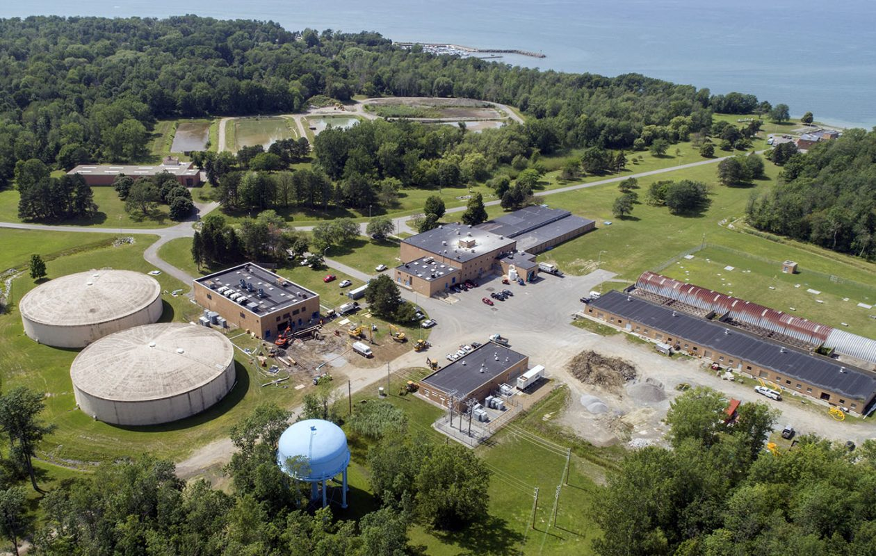 The Erie County Water Authority facility on Lake Erie in Derby. (Derek Gee/News file photo)