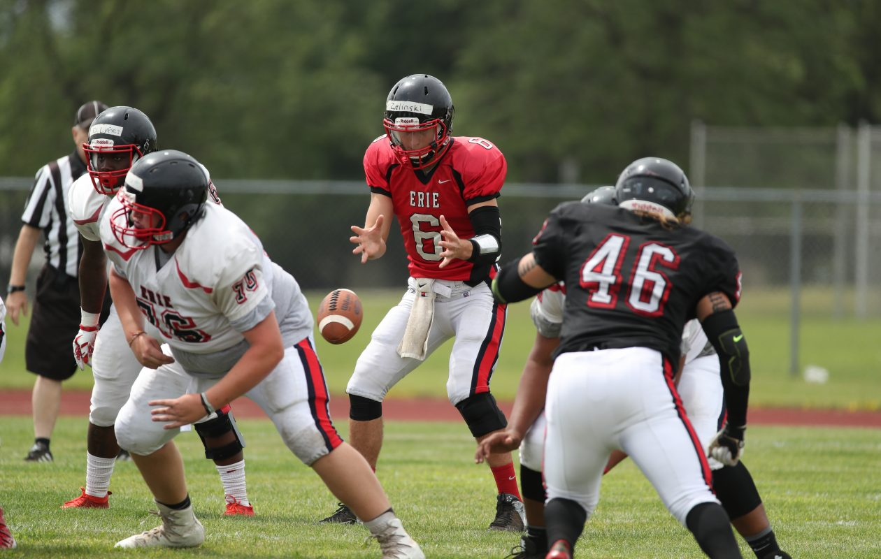 Tyler Zelinski, a transfer from Ashland, is a contender to be ECC's starting quarterback. (James P. McCoy/Buffalo News)