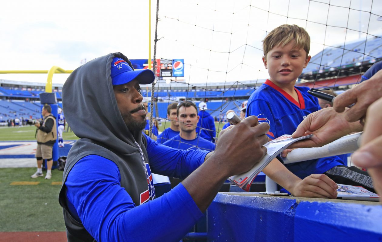 """Bills general manager Brandon Beane feels """"good"""" about quarterback Tyrod Taylor's chances of starting Week 1 vs. the New York Jets (Harry Scull Jr./Buffalo News)"""