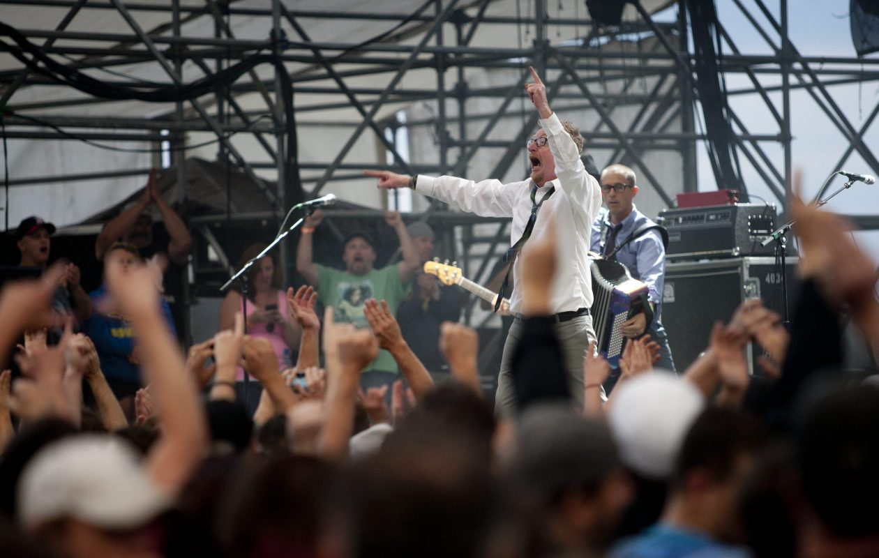 Flogging Molly performs during a show at the Outer Harbor on Aug. 2, 2013.  (Buffalo News file photo)