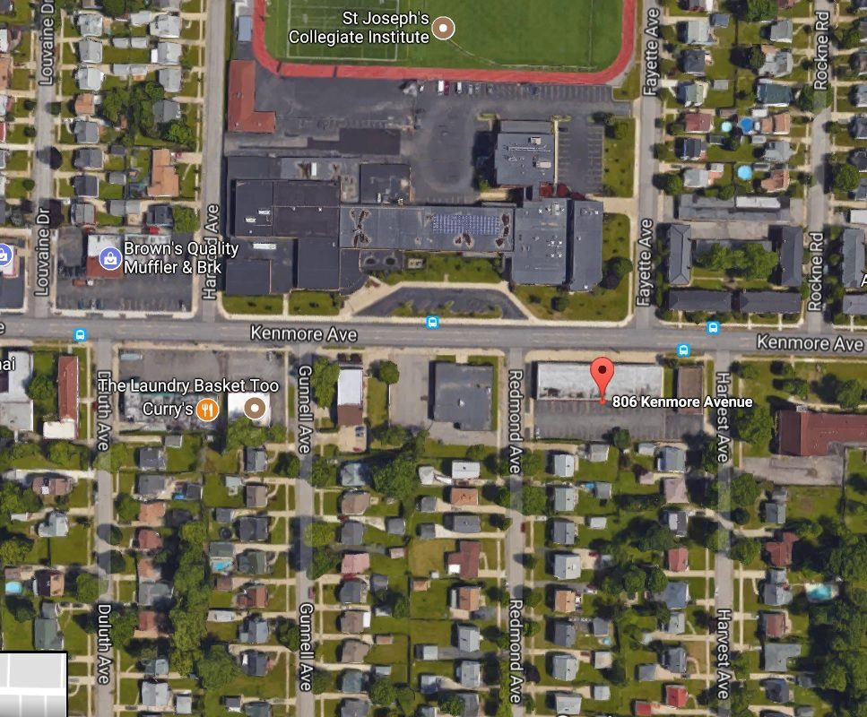 The Planning Board on Monday approved a 60-space parking lot across from  St. Joseph's Collegiate Institute. (Google Maps)