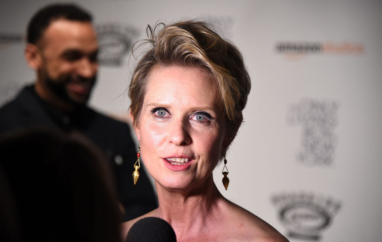"""""""I think there are a lot of people who would like me to run,"""" Cynthia Nixon told the """"Today"""" show. (Getty Images)"""