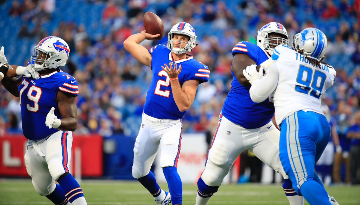 Rookie quarterback Nathan Peterman had a strong showing in the Bills' preseason-finale. (Harry Scull Jr./Buffalo News)
