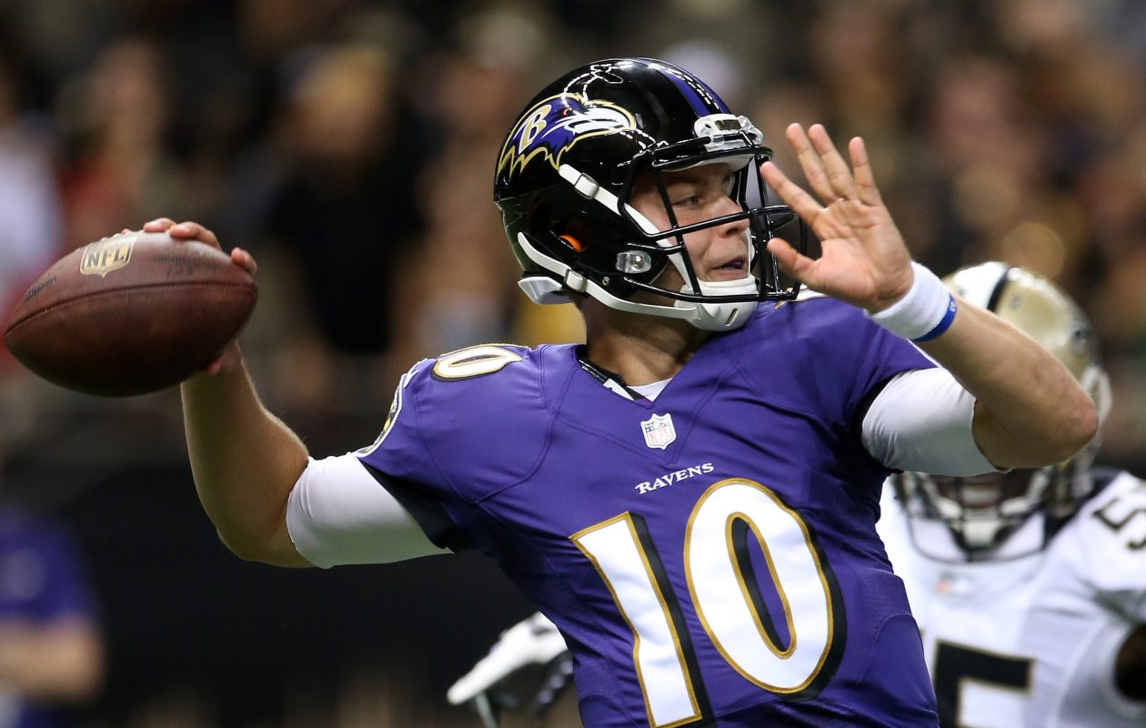 Bills have signed former Ravens quarterback Keith Wenning.  (Photo by Chris Graythen/Getty Images)