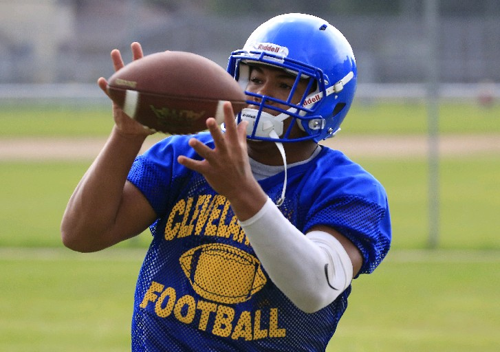 Cleveland Hill's Aaron Wahler, who rushed 1,000 yards last year, is one of six returning starters on both sides of the ball for the defending sectional champs.  (Harry Scull Jr./Buffalo News)