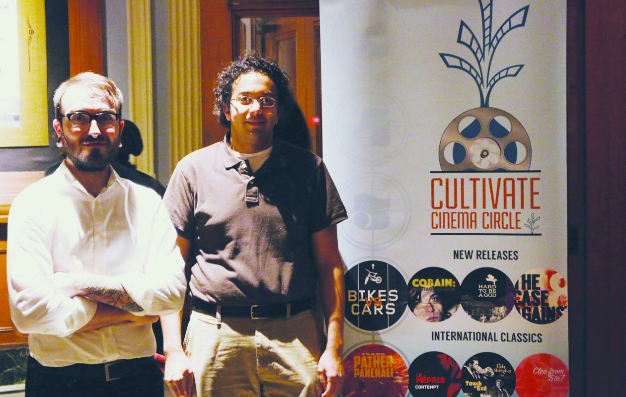 Jordan M. Smith, left, and Jared Mobarak created Cultivate Cinema Circle to foster a community for film lovers.