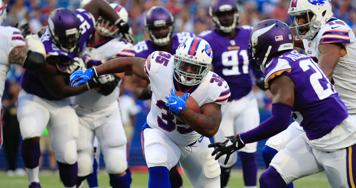 Bills running back Mike Tolbert hasn't been shy about sharing his feelings on how his time with the Carolina Panthers ended. (Harry Scull Jr./Buffalo News)