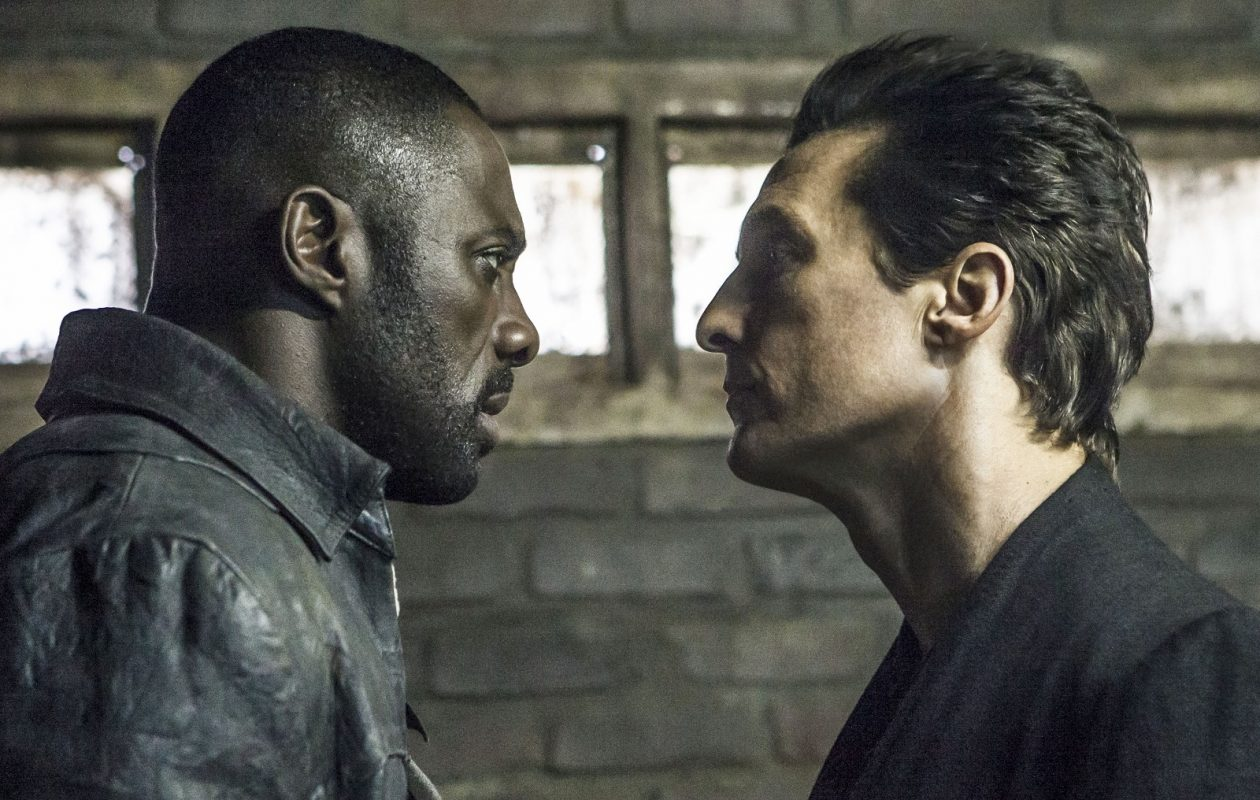 "Idris Elba and Matthew McConaughey in ""The Dark Tower."" (Ilze Kitshoff, Sony Pictures Entertainment)"
