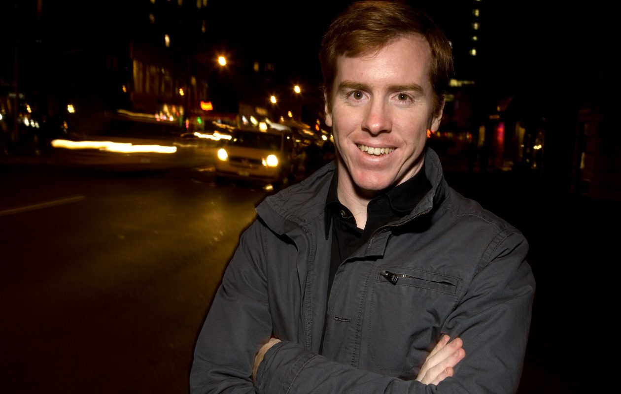 Eric Huebner is preparing for two challenging two-piano recitals. (Photo by Peter Dressel.)
