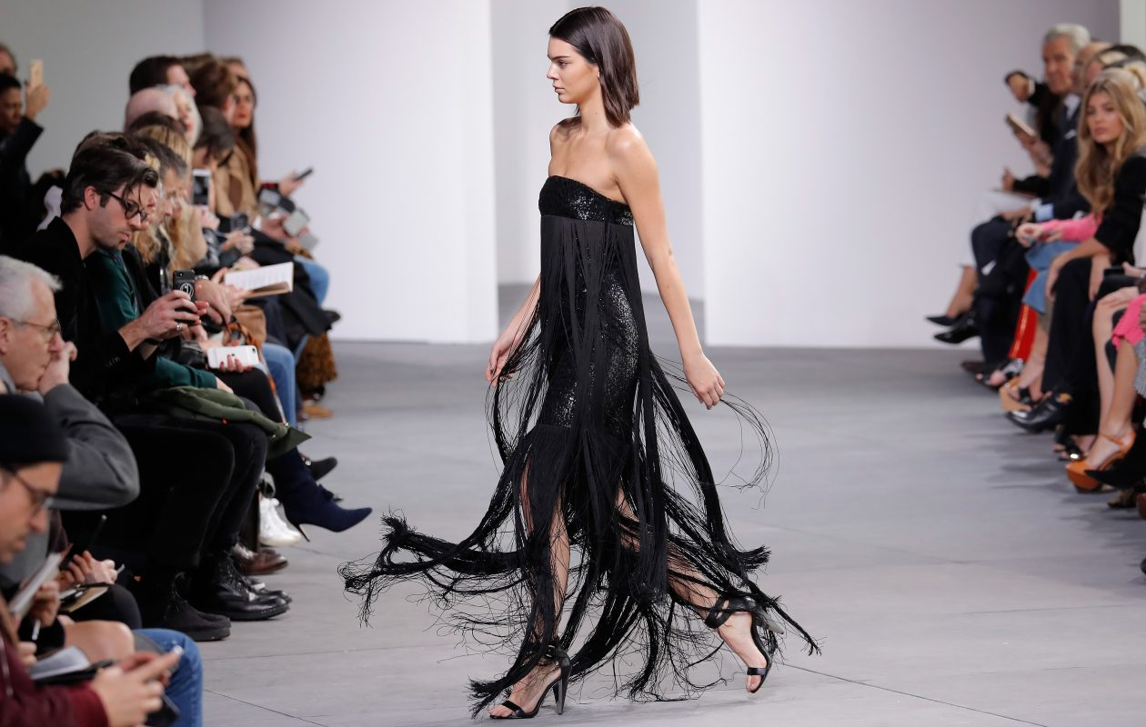 Fringe swirled at the Michael Kors Fall 2017 collection during New York Fashion Week in February. Women will find fringe used in more subtle ways this fall. (Getty images)