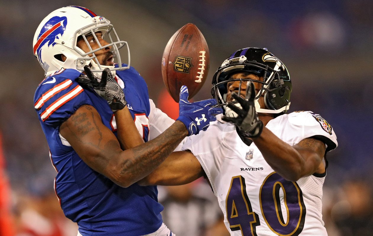 Wide receiver Philly Brown is squarely on the roster bubble as the Bills enter their final preseason game.(Getty Images)