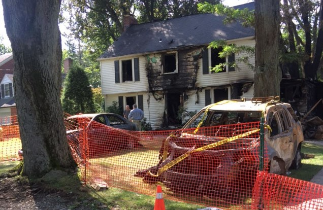 The badly damaged home at 95 Rosedale Ave. in Hamburg.