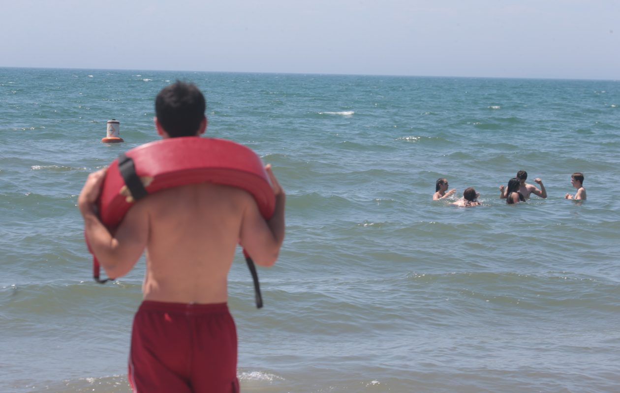 When college students go back to school, it's more difficult for Hamburg to staff lifeguards at beaches. (John Hickey/News file photo)