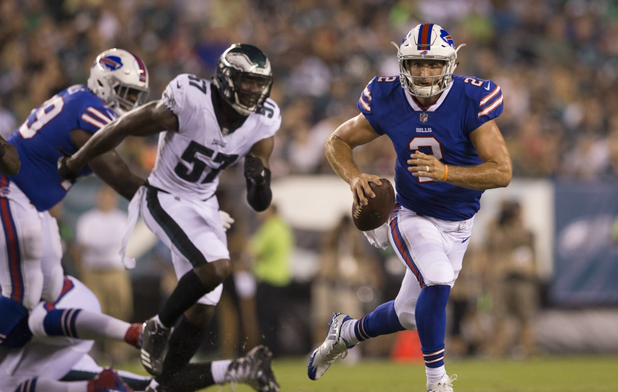 How much will Bills rookie quarterback Nathan Peterman and newcomer Keith Wenning play in Thursday night's preseason finale vs. the Detroit Lions?  (Mitchell Leff/Getty Images)