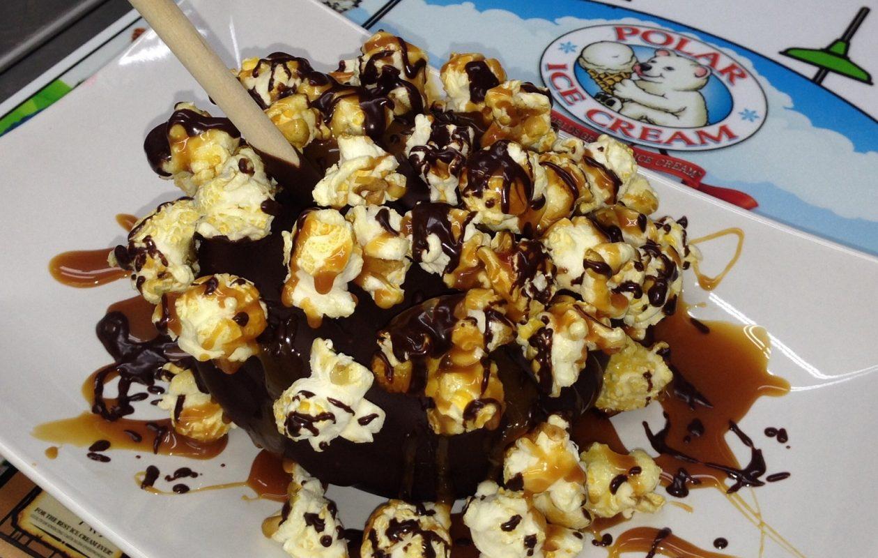 Polar Bear Ice Cream's kettle corn ice cream is expected to be popular at the fair. (via ECF)