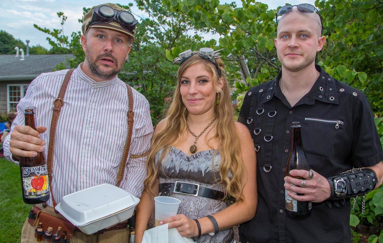 Smiling faces at the 2015 Steampunk Festival at Leonard Oakes Estate Winery. (Don Nieman/Special to The News)