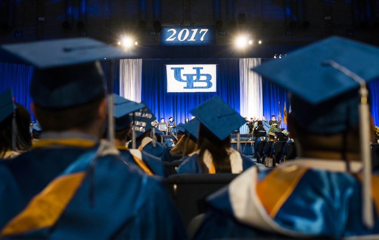 The University at Buffalo undergraduate   commencement in May.    (Derek Gee/Buffalo News)