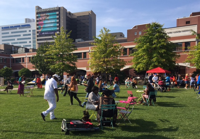 Buffalo Medical Niagara Campus held its first-ever summer block party on Wednesday.