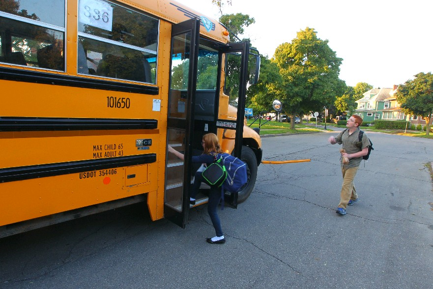 Bus Schedules and start times at three Buffalo schools are up in the air a month before school starts thanks to a union lawsuit and judge's decision to toss the matter to the state education commissioner. (John Hickey/Buffalo News file photo)