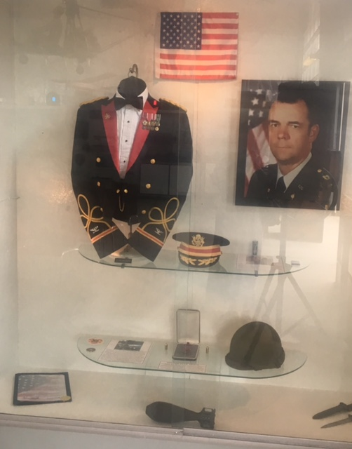 Exhibit of Col. Patrick Cunningham on display at Buffalo and Erie County Military & Naval Park.