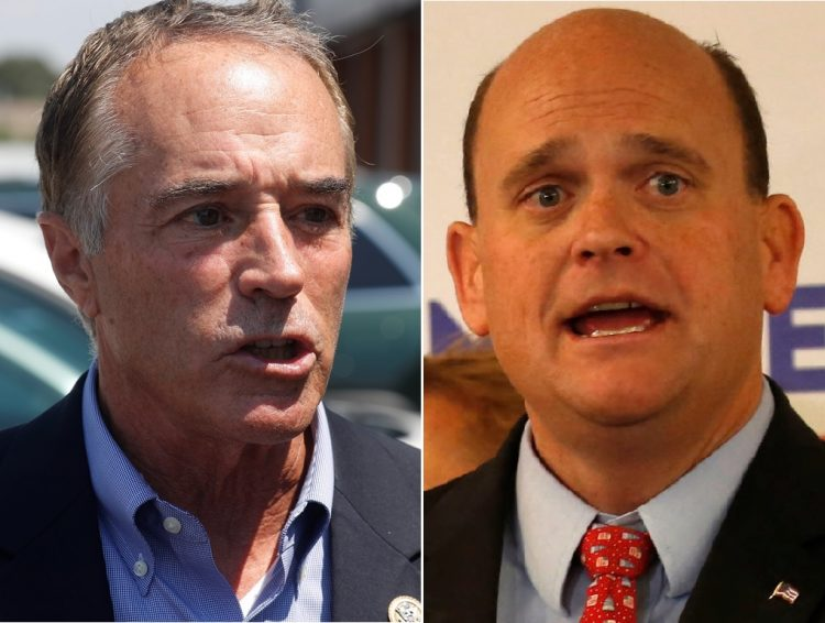 Reps. Chris Collins, left, and Tom Reed  were the only members of the state's congressional delegation to vote for the budget resolution. (News file photos)