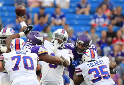 On the field: Vikings 17, Bills 10