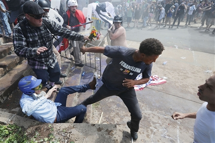 White supremacists, counterprotesters clash violently