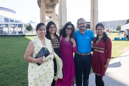 Smiles at Festival of India at Canalside