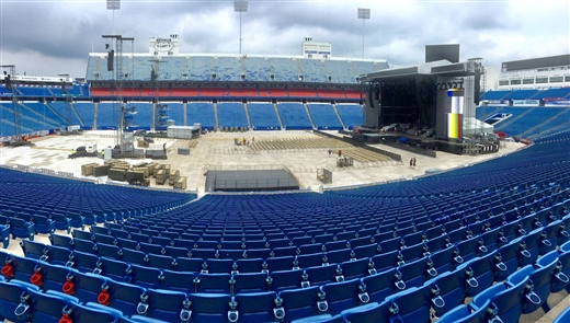 New Era Field transforms for Guns N' Roses concert
