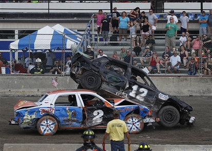 World's Largest Demolition Derby at Erie County Fair