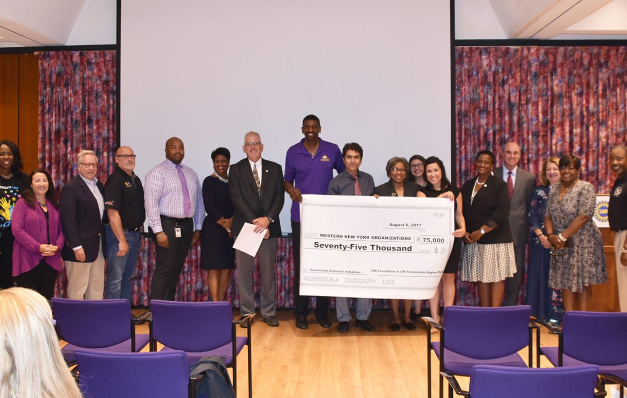 Recipients of donations from the General Motors Foundation. (Photo provided by GM)