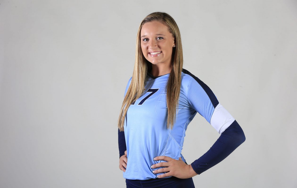 Leah Meyer of St. Mary's helped Duke win 21 matches last year. She's the Buffalo News Prep Talk Awards Player of the Year in girls volleyball in 2015.  (Harry Scull Jr./Buffalo News file photo)