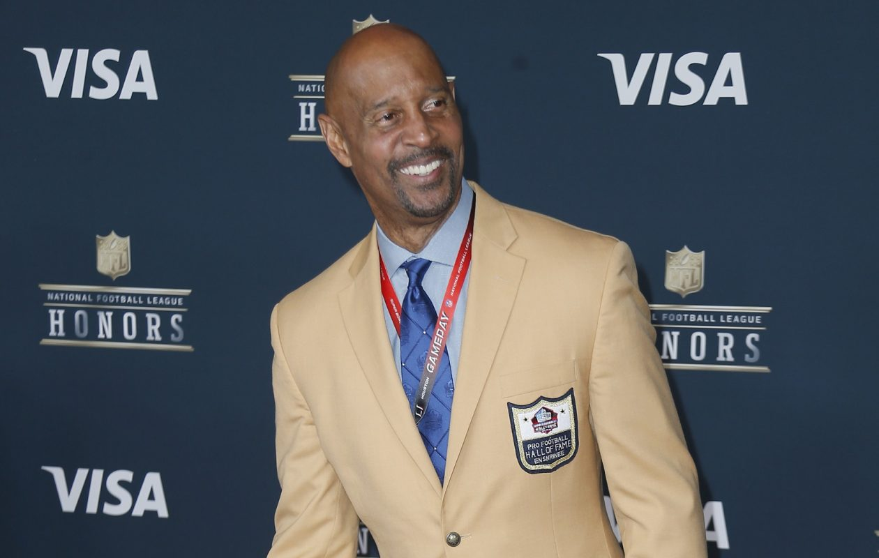 James Lofton, here at the sixth annual NFL Honors earlier this year, will be part of the broadcast team for this Sunday's Bill-Raiders game. (Getty Images)