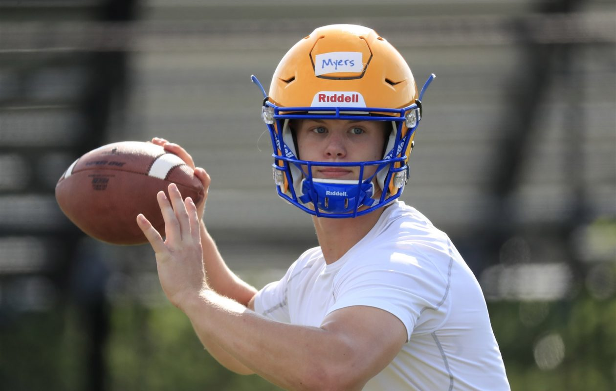 Matt Myers returns to quarterback West Seneca West after two years with Bishop Timon-St. Jude. (Harry Scull Jr./The Buffalo News)