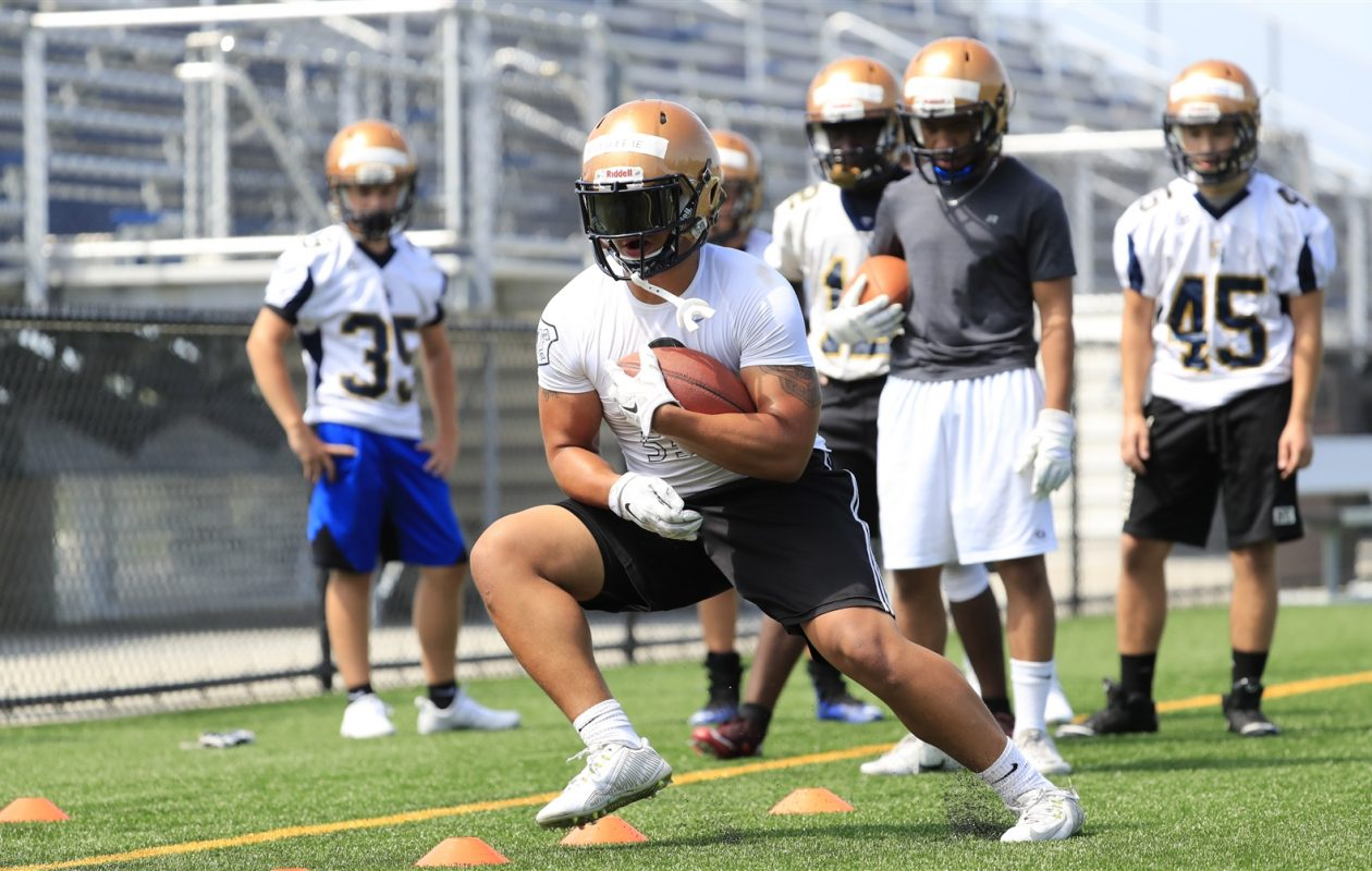 Standout tailback Dylan McDuffie is back at Sweet Home after playing for St. Francis last season. (Harry Scull Jr./The Buffalo News)