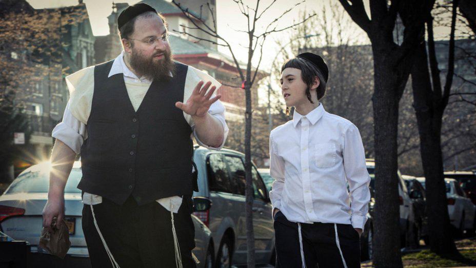 Menashe Lustig, left, and Ruben Niborski in 'Menashe'