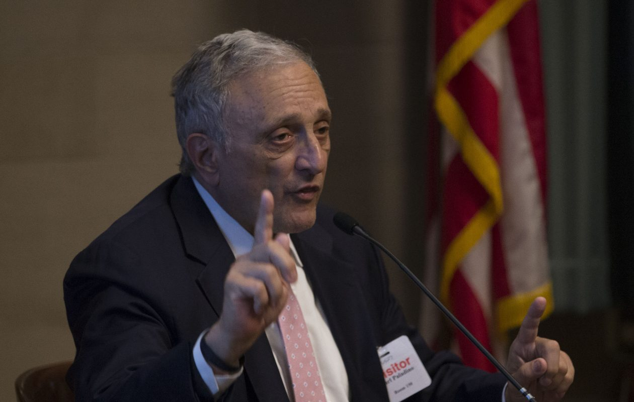 Carl Paladino testifies at the State Education Building on Tuesday, June 27, 2017, Albany. (Mike Groll/Special to The News)