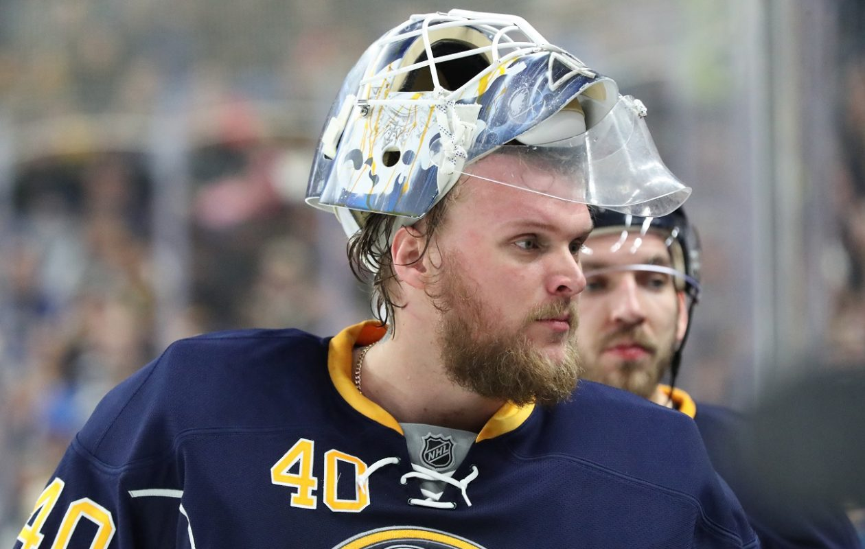 Robin Lehner's career with the Sabres continues.(James P. McCoy/News file photo)