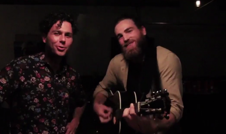 Sabres' Ryan O'Reilly shows off his pipes with the Arkells